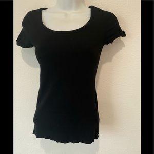 Whitehouse black market black knit short sleeve ca